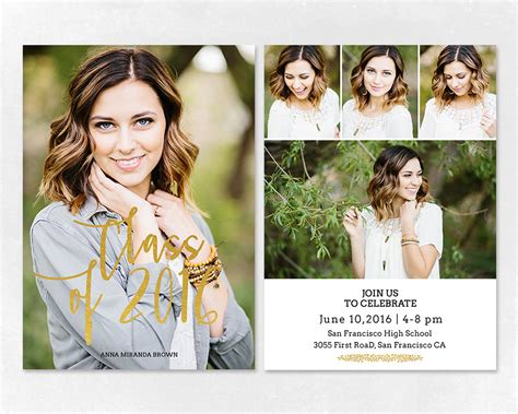 senior graduation announcement template for by salsaldesign
