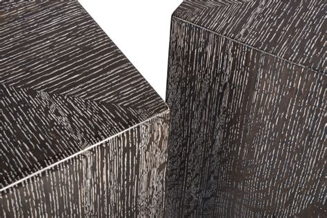ebonized  cersued quarter sawn white oak cubes