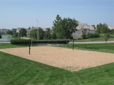 backyard volleyball court lions gate homes in overland park kansas 66223 johnson