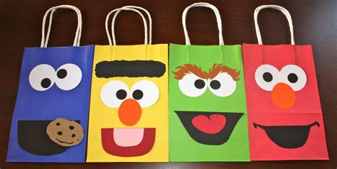 How To Make Paper Loot Bags - buggy s basement sesame goodie bags