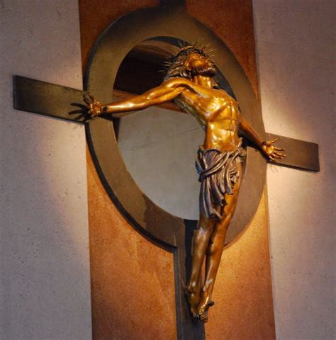 triumph of the cross crucifix st vincent de paul church