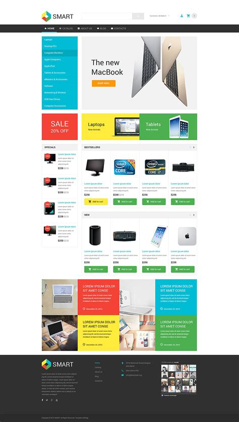 live demo for smart electronics store virtuemart template