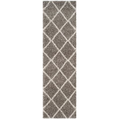gray and ivory rug safavieh hudson shag collection sgh281b grey and ivory area rug 6 by 9 6 x 9