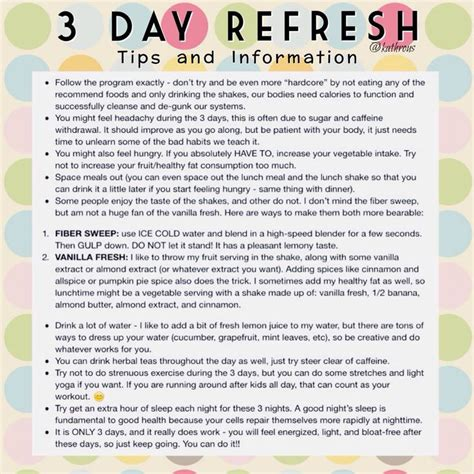 7 Day Detox Beachbody by 25 Best Ideas About 3 Day Refresh On