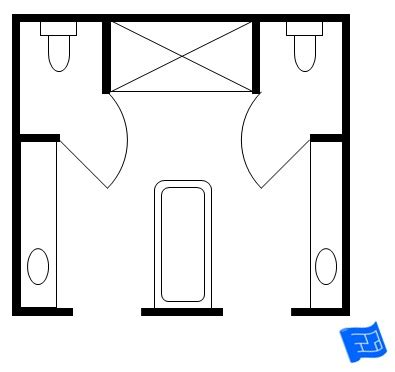 his and hers bathroom master bathroom floor plans