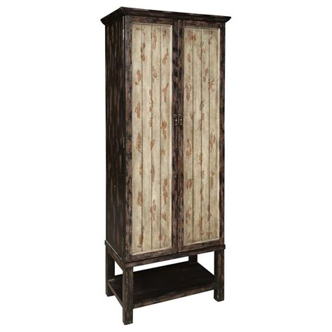 tall accent cabinets with doors pulaski two tone rub through tall accent door cabinet in