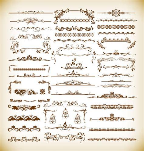 antique design vintage design elements collection vector illustration