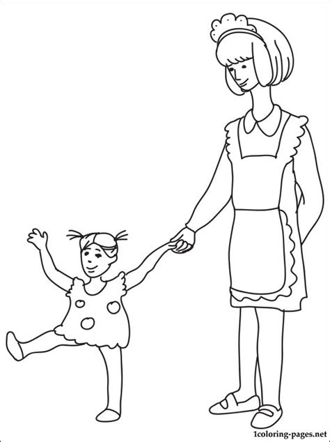 Barbie Kitchen Furniture Nanny Coloring Page Coloring Pages