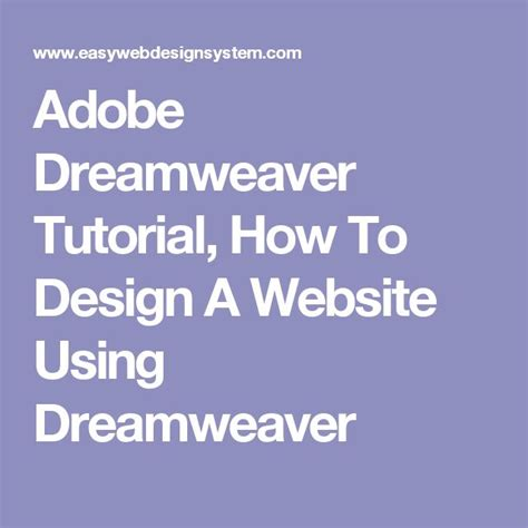 tutorial photoshop dreamweaver website the 25 best adobe dreamweaver ideas on pinterest