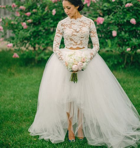 2016 long sleeve wedding dress ball gown 2 two