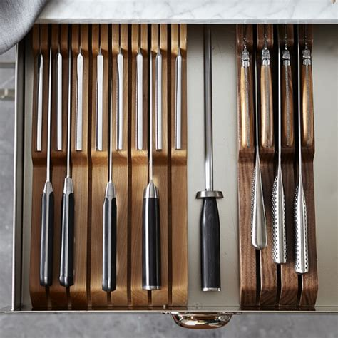 in drawer knife organizer tray williams sonoma in drawer 15 slot knife organizer