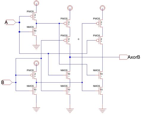 xor layout diagram cadence nor gate schematic cadence get free image about