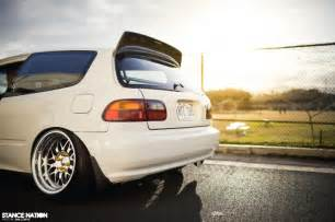 slammed fitted stanced honda civic eg hatchback jdm