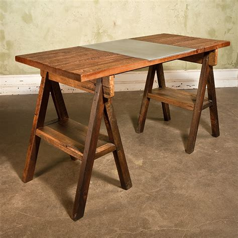 a work table pine trestle work table evolutions