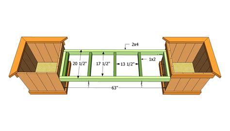 Bench Planter Plans by Woodwork Deck Bench Planter Plans Pdf Plans