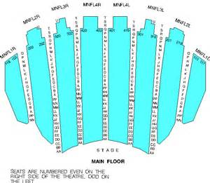 Chicago Theater Seat Map by Chicago Theater Seating Chart