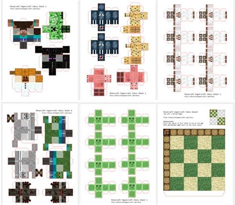 Minecraft Papercraft Chess - papermau minecraft chess papercraft by pixel