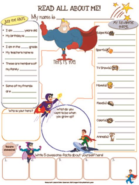 heroes printable worksheets superhero all about me activity superhero hero and