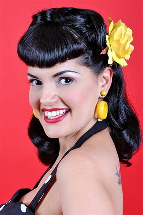 pin up hairstyles for black women with long hair pin up girl hairstyles for short hair