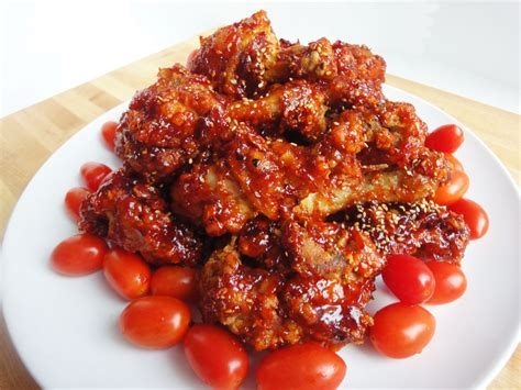 Letter Korean Chicken Seasoned Fried Chicken Yangnyeom Tongdak Recipe Maangchi