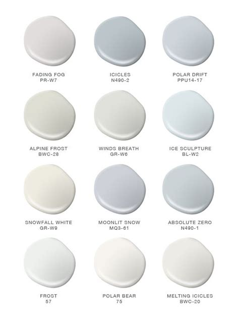 color of the month winter whites colors paint colors snow and blankets