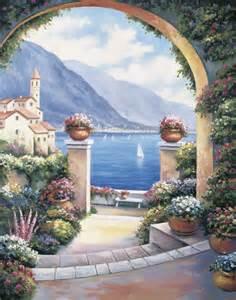 Mediterranean Wall Murals Mediterranean Archway Wall Art Mediterranean Wallpaper