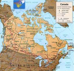 map of usa and canada canada map