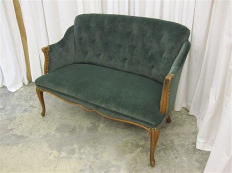 vintage settee for sale french style antique button tuft back settee couch for