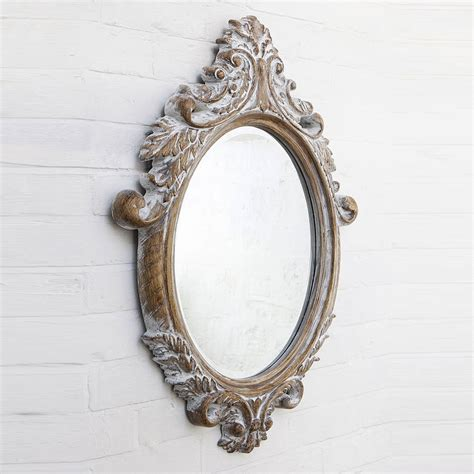Handcrafted Mirrors - oval bevelled ornate mirror by crafted mirrors