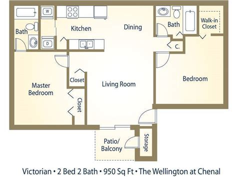 split two bedroom layout apartment floor plans pricing wellington at chenal