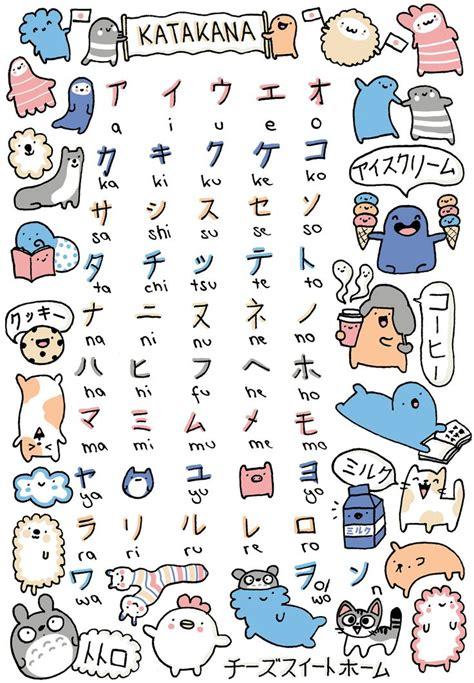doodle writing meaning katakana poster japanese teaching to
