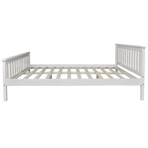 vidaxl co uk white solid pinewood bed 200 x 160 cm