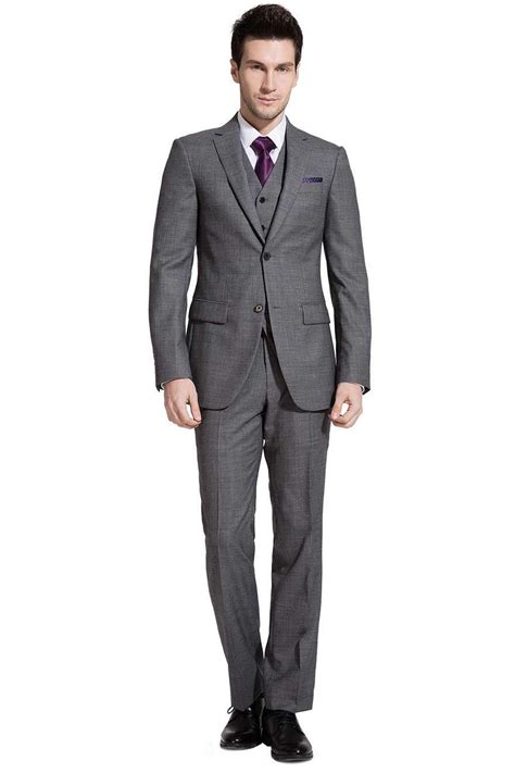Three Suit Wool Linen Blend Grey Suit Ownonly