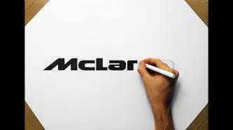 mclaren logo drawing how to draw mclaren p1 logo speed drawing fan