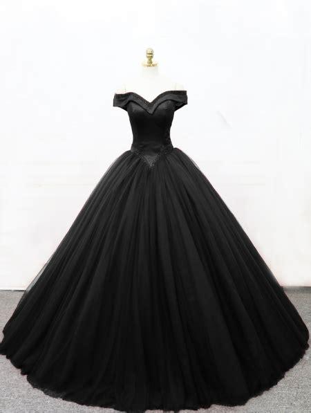 black gothic princess ball gown wedding dress devilnight