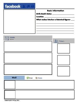 best photos of blank facebook template for teachers