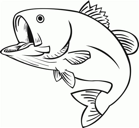Jumping Fish Coloring Pages | 8 pics of jumping fish coloring pages jumping bass fish