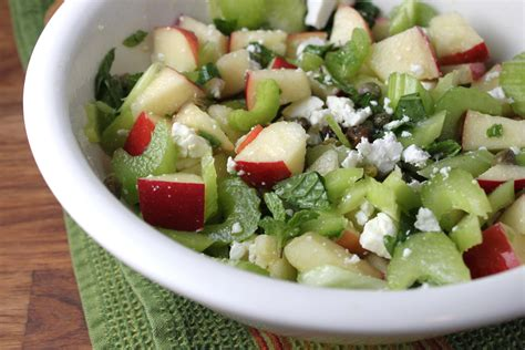 celery salad sweet salty crunchy zingy apple and celery salad recipe