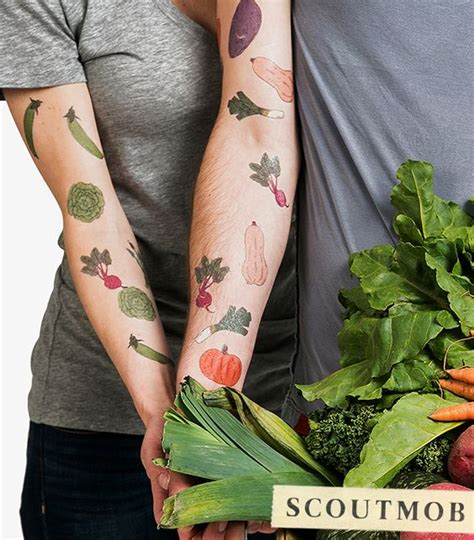 vegetable tattoos vegetable lover temporary set to be shows