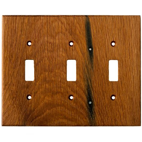 oak light switch covers oak reclaimed wood wall plates 3 gang light switch cover