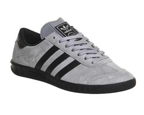 Adidas Grey adidas hamburg solid grey black his trainers