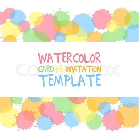 green card template paint shop pro painted water color circles with text