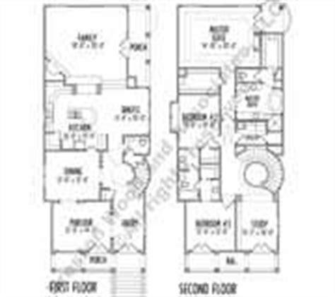 narrow 2 story house plans narrow house plan c7245 2 story no garage no basement