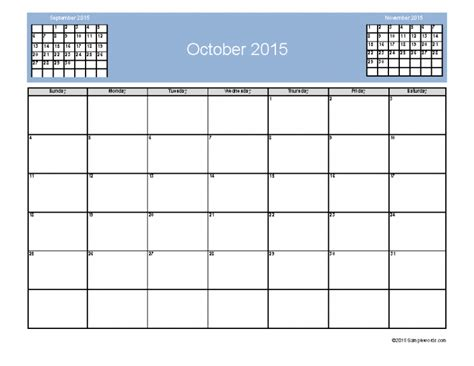Calendar 3 Month View October 2015 Calendar With 3 Month View