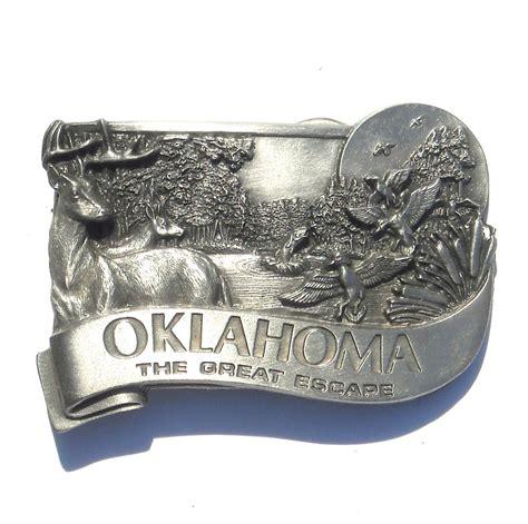 sooner state pattern works blackwell ok oklahoma sooner state great escape 3d vintage pewter belt