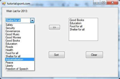 tutorialspoint vba pdf vb net combobox control