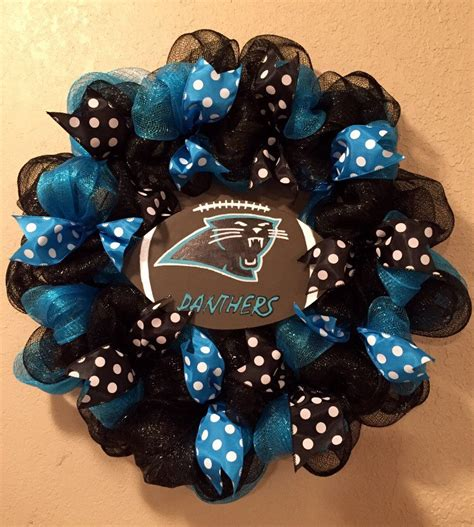 Carolina Panthers Decorations by Carolina Panthers Wreath Carolina Panthers Decor Panthers