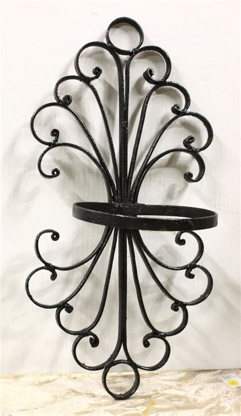 Wrought Iron Wall Planter by Wrought Iron Wall Planters Lot 4517 Fencing