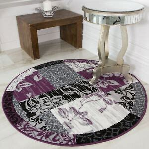 purple grey patchwork rugs soft small large  circle