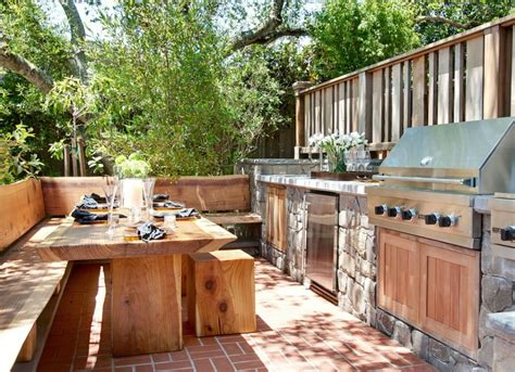 backyard kitchens natural elements in outdoor kitchen outdoor kitchen